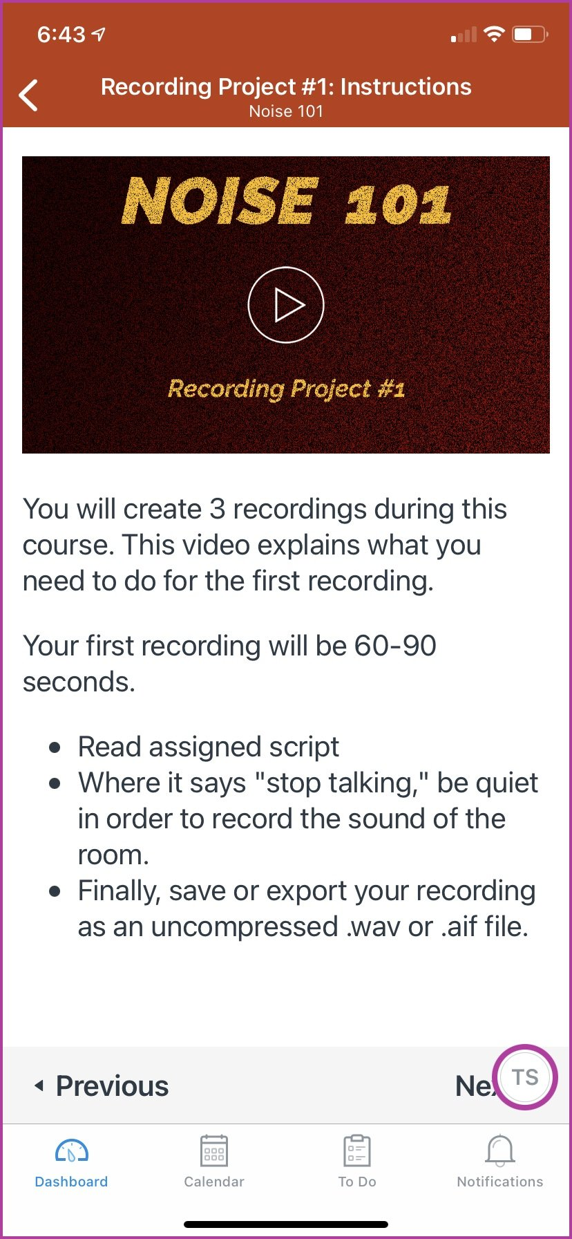 Example of Project #1 in the Noise 101 course. This video will give students the instructions they need to get started.