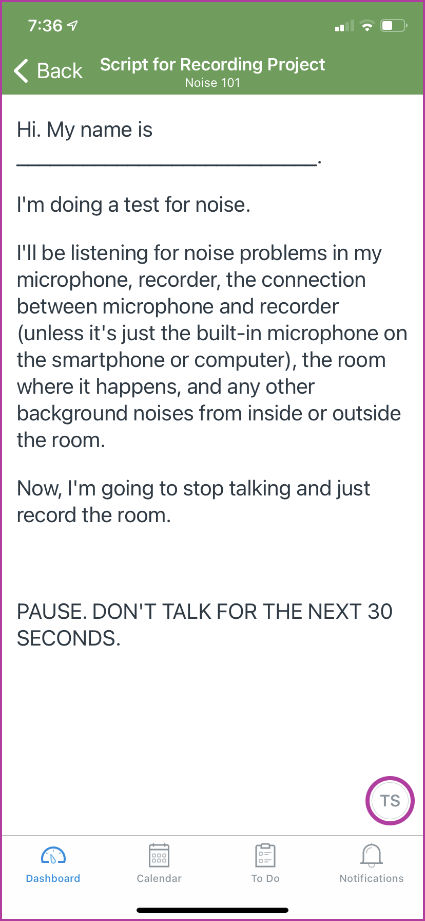 This is the script students will record for their projects in this Noise 101 course