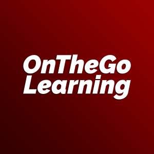 White letters on red background. OnTheGo Learning
